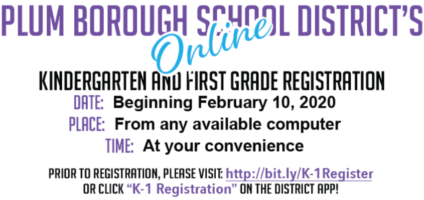 PBSD online kindergarten and first grade registration
