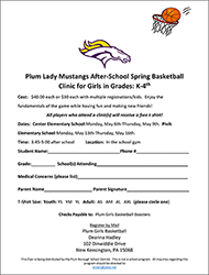 after-school basketball clinic