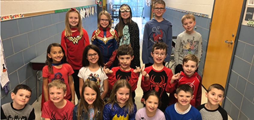 Pivik Elementary kids help school and community
