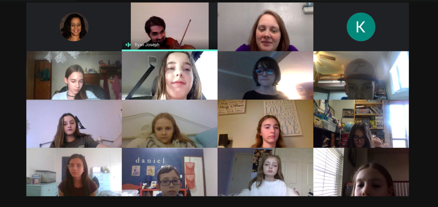 Grammy-nominated fiddle player, Ryan Joseph, held a Q&A session with Holiday Park Elementary School students at a virtual strings camp on Friday, December 11. Ryan, who plays for Alan Jackson's Country Band is a Commercial and Classical Violin Professor a