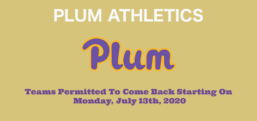Plum Athletic Department Resocialization of Athletics Procedures