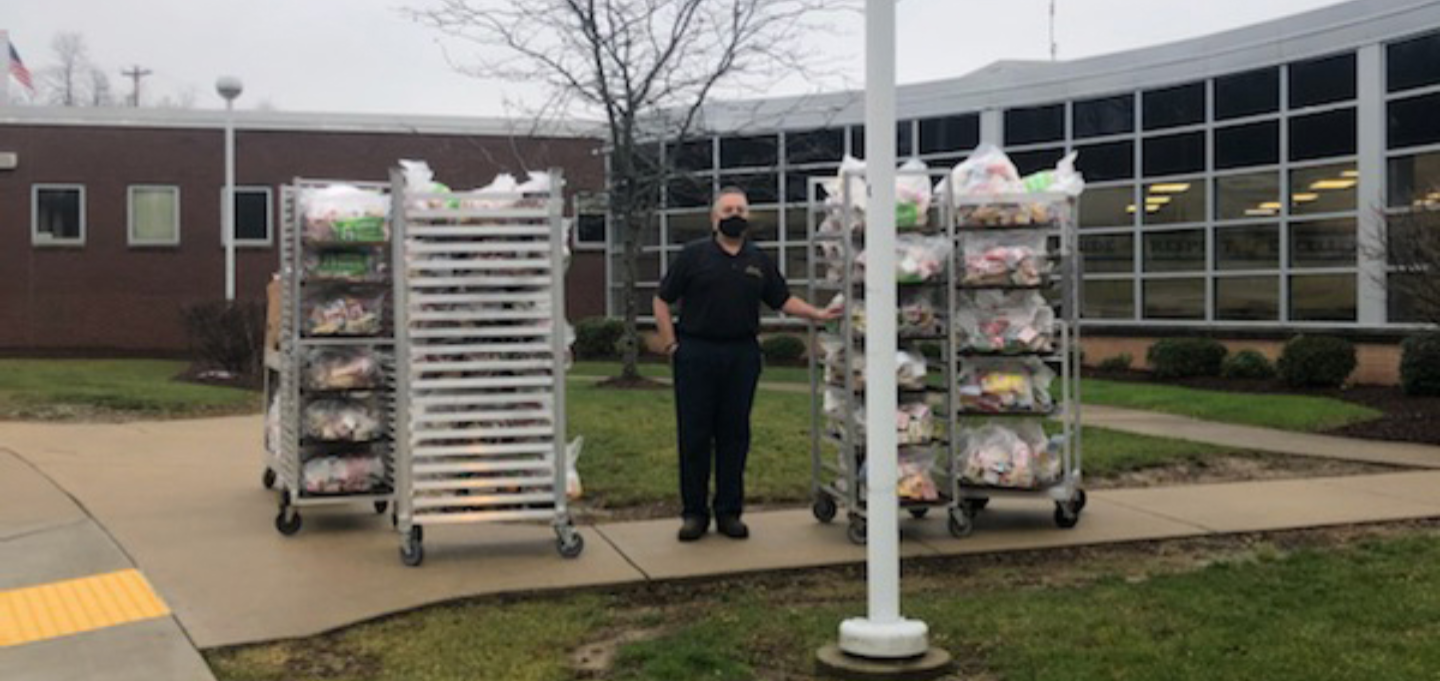 Plum Borough School District's Food Services Department has extended its hand again. The department helped all students in our community in need of food security by offering a meal delivery service in response to the District going fully remote.    The me