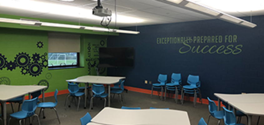 Oblock Junior High Collaboration Room