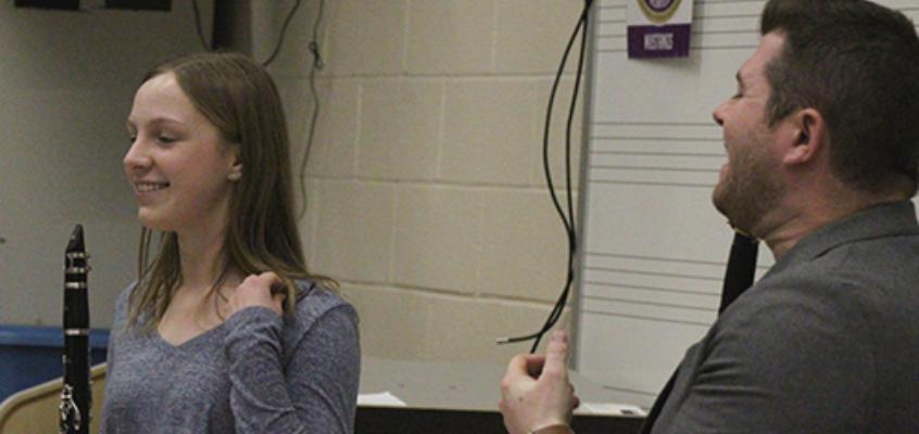 Julian Bliss masterclass at Plum Senior High School