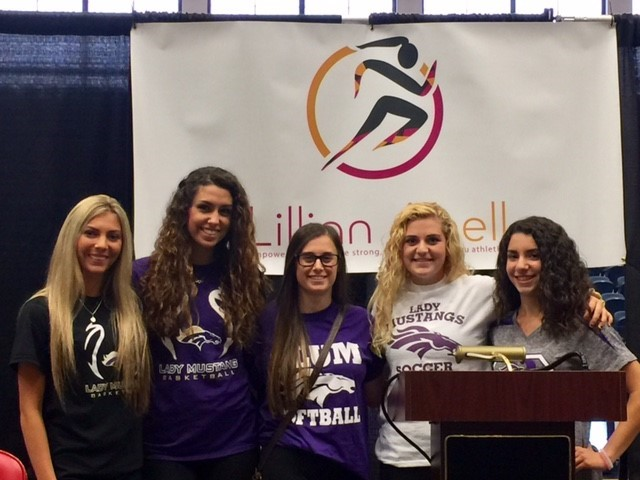 Plum female athletes attended the Empowering Athletes to be Strong, Smart and Bold Event