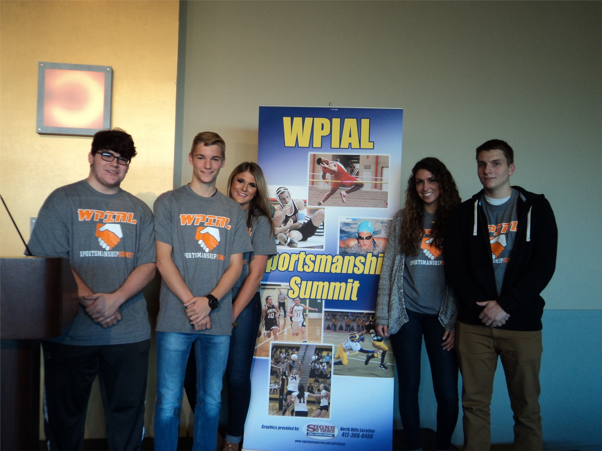 Plum H S student-athletes attended the WPIAL Sportsmanship Summit at the Heinz History Center