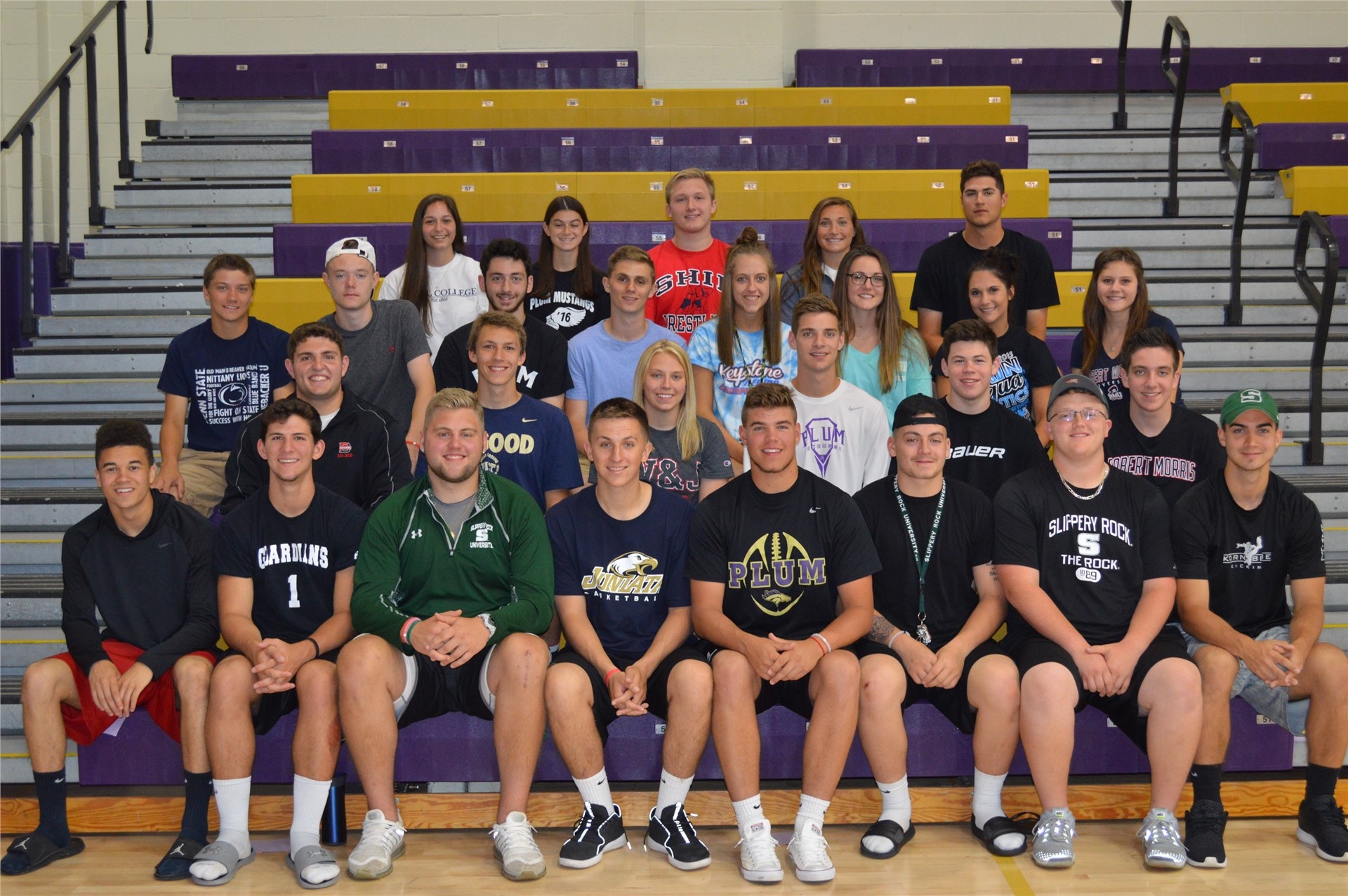 Several Plum Athletes to Continue Playing at the Collegiate Level