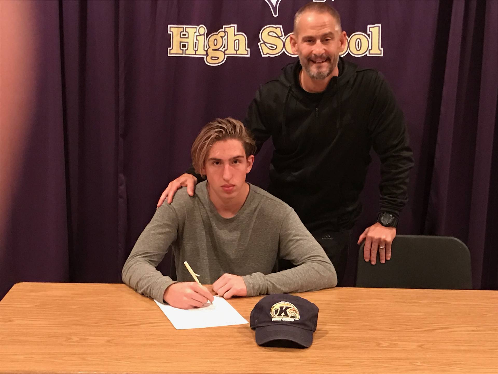 Ryan Kircher signs his NLI to play baseball at Kent State