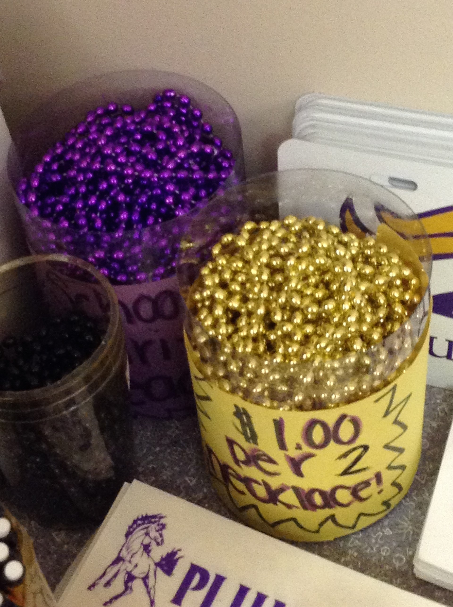 Purple and Gold Beads
