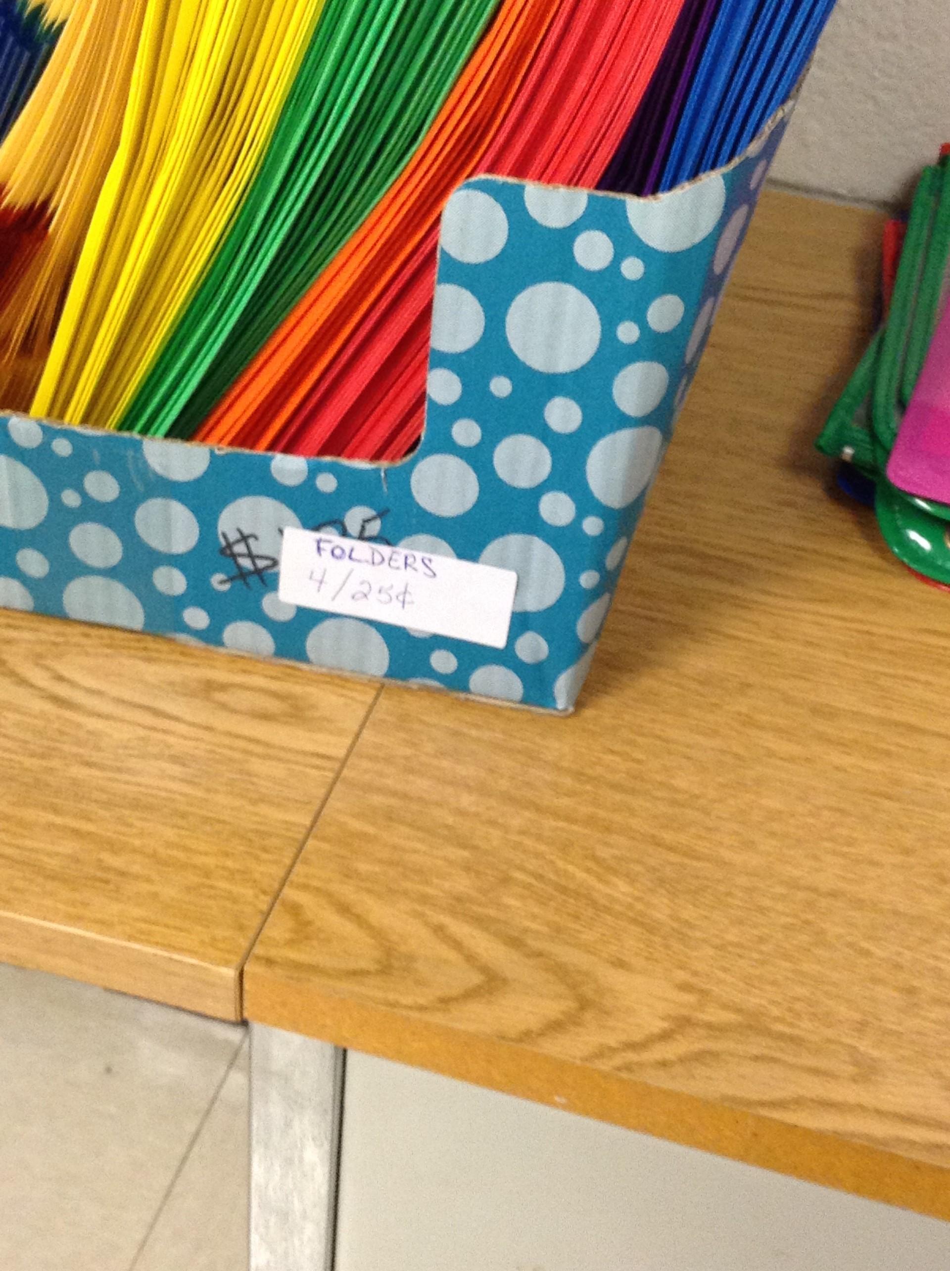 School Supply Folder