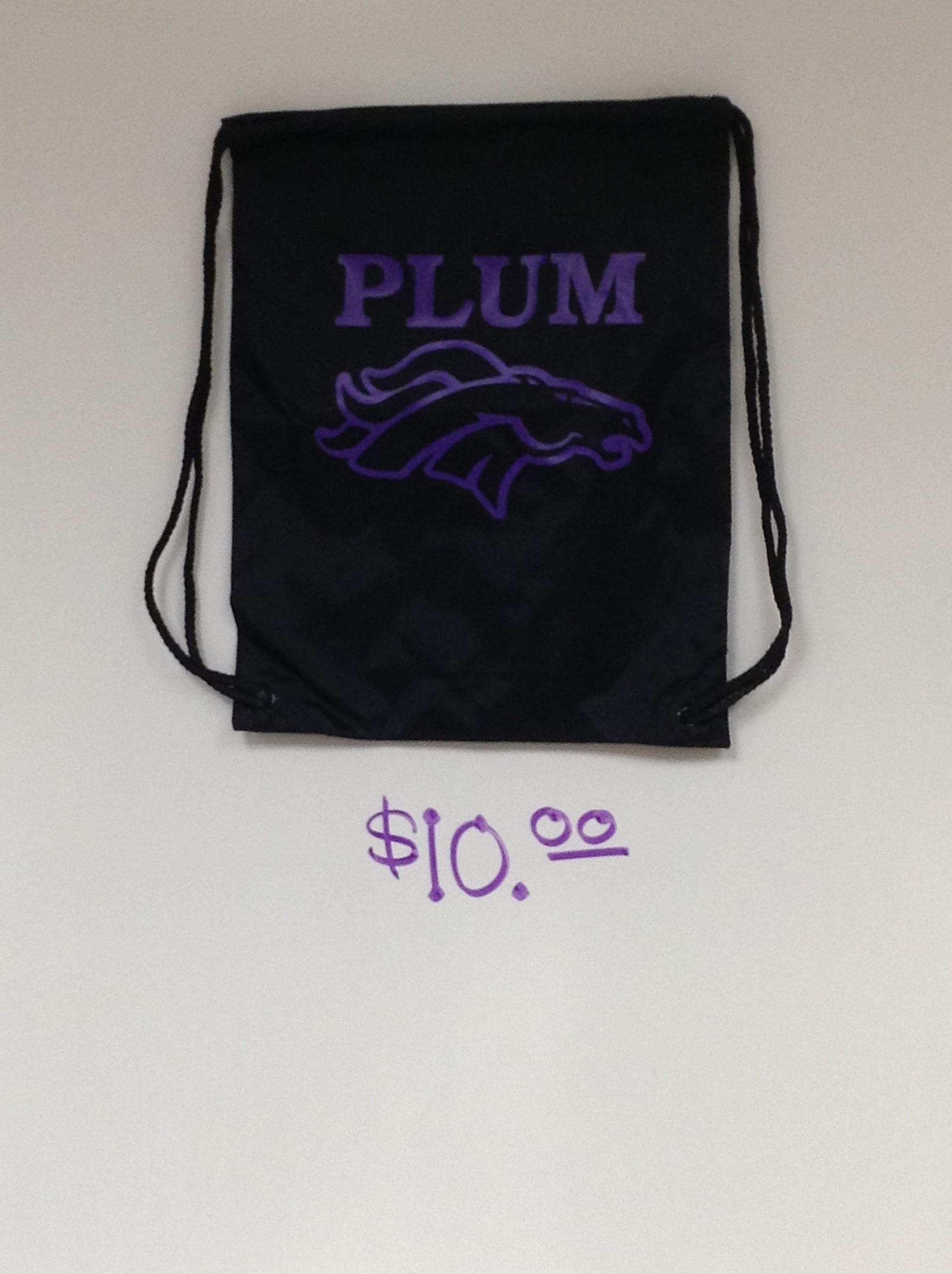 Plum Drawstring bag