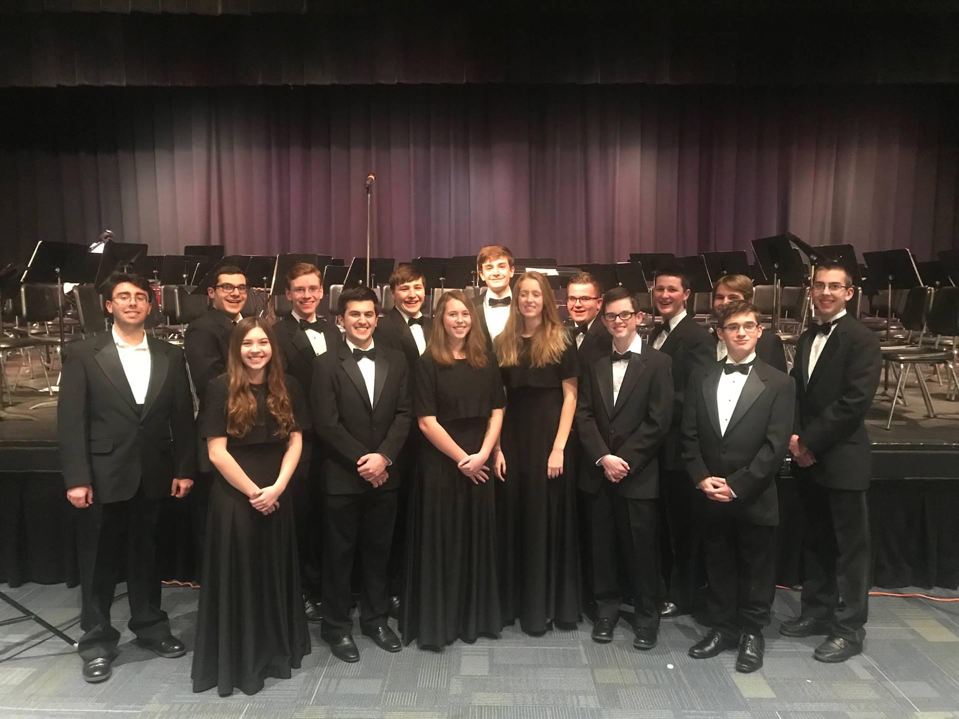 Alle-Kiski Honors Band Festival students