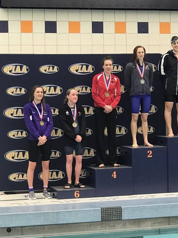 Plum junior, Devan Taylor, placed 8th at the PIAA Swim Championships