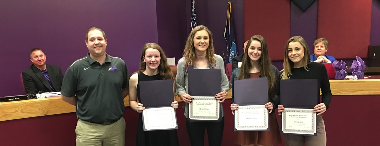 Girls' Senior High School Swimming Honor Recipients