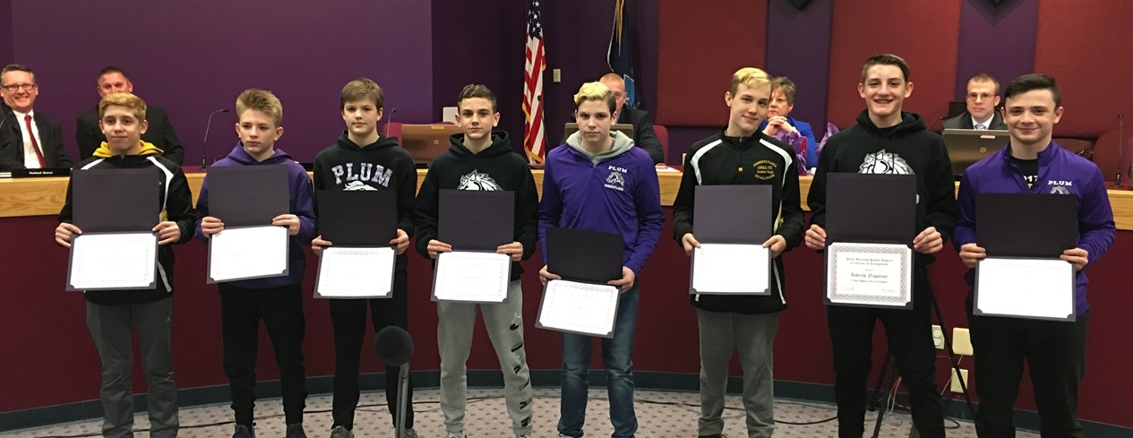 Junior High School Wrestling Honor Recipients