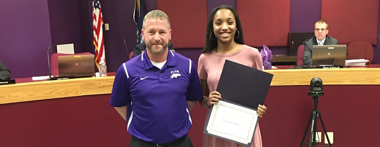 Girls' Senior High School Basketball Honor Recipient