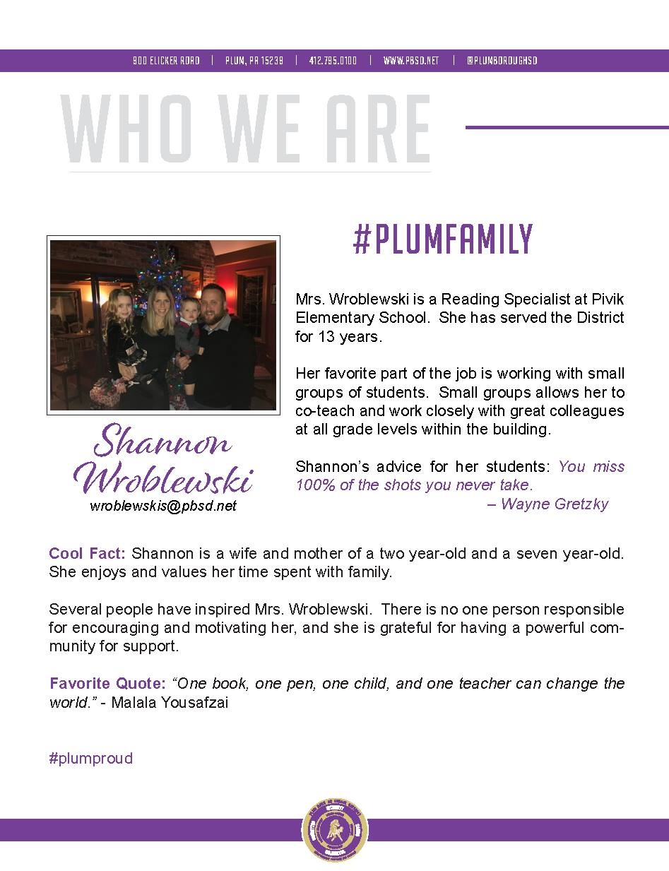 Who We Are Wednesday features Shannon Wroblewski.