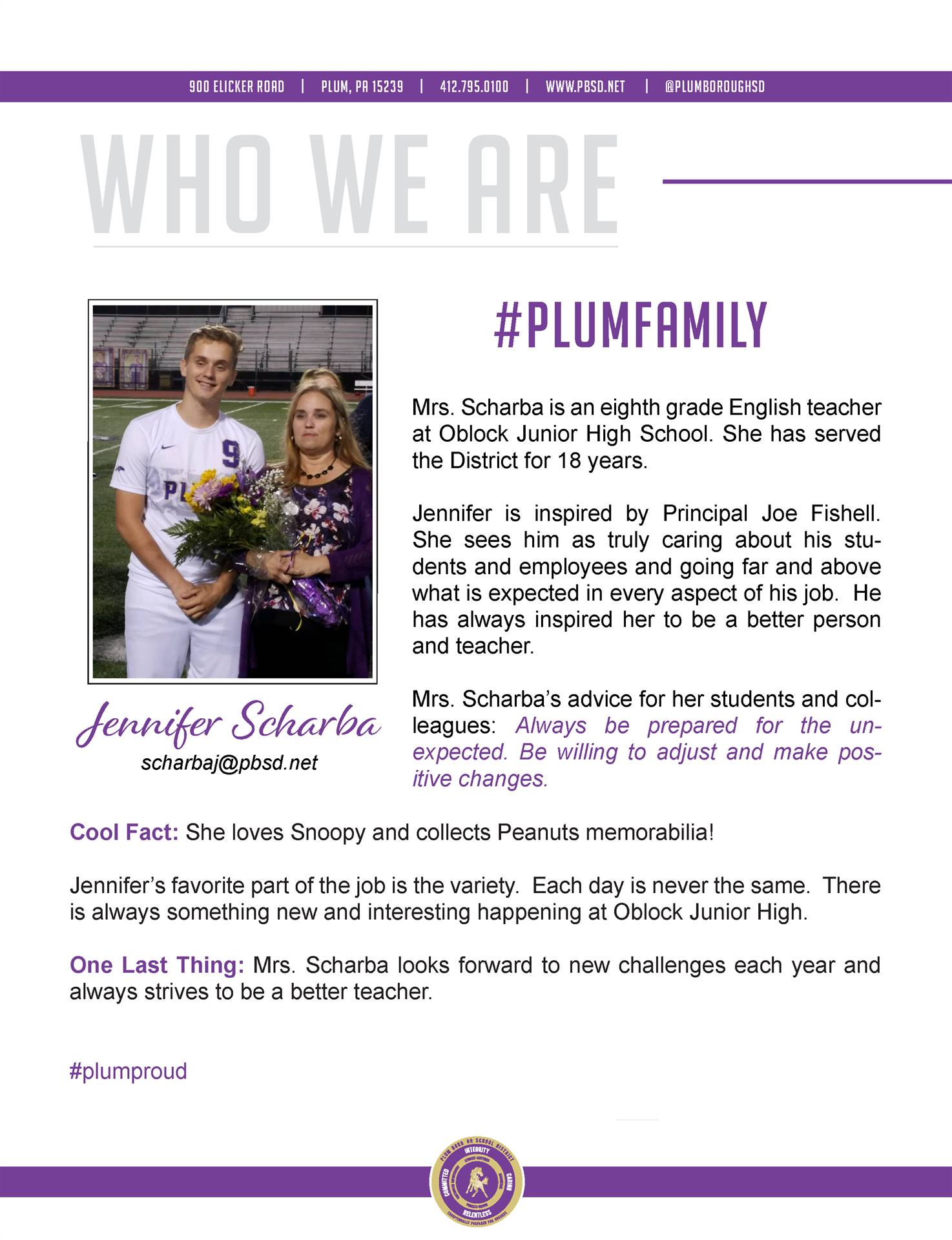Who We Are Wednesday features Jennifer Scharba.