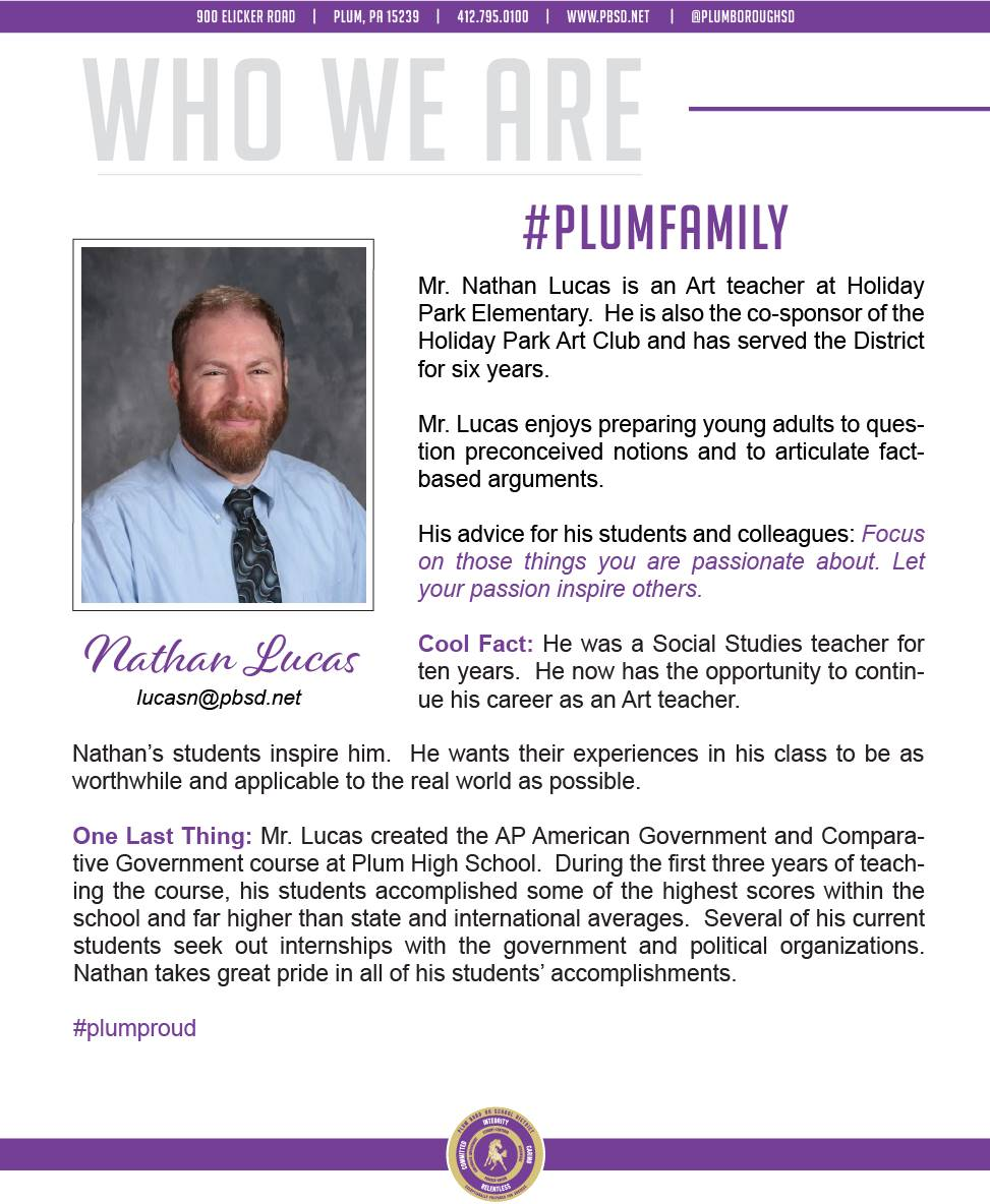 Who We Are Wednesday features Nathan Lucas.