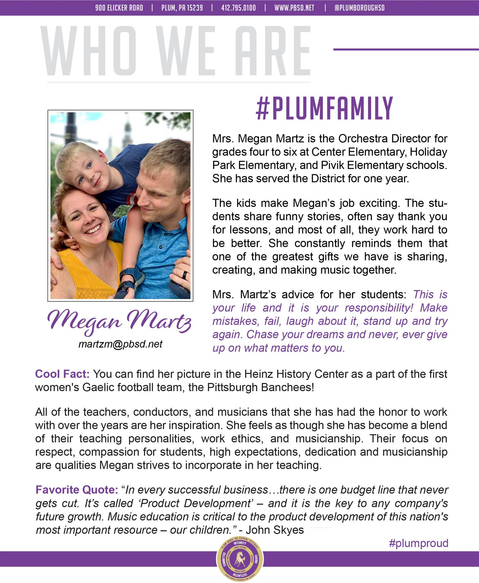 Who We Are Wednesday features Megan Martz.