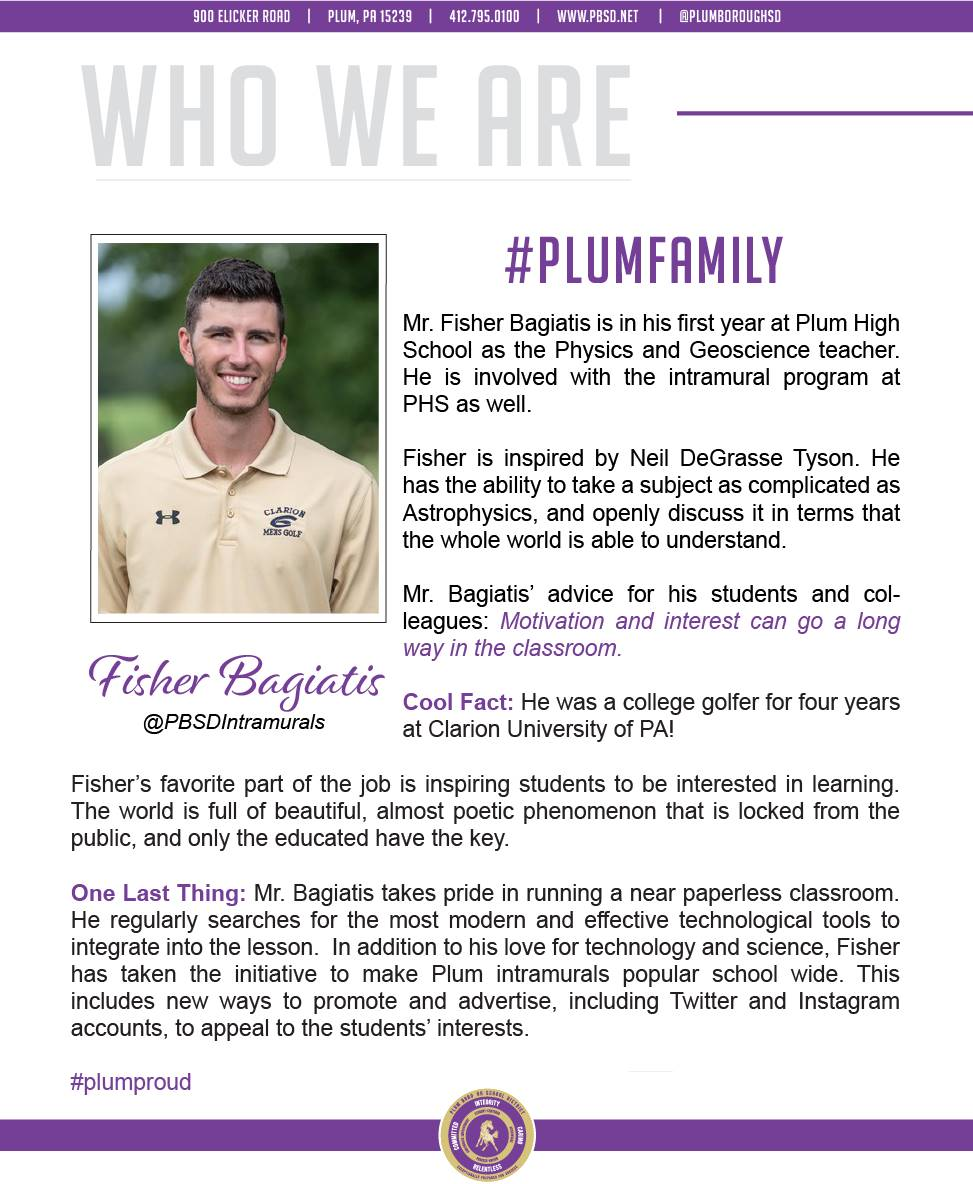 Who We Are Wednesday features Fisher Bagiatis.