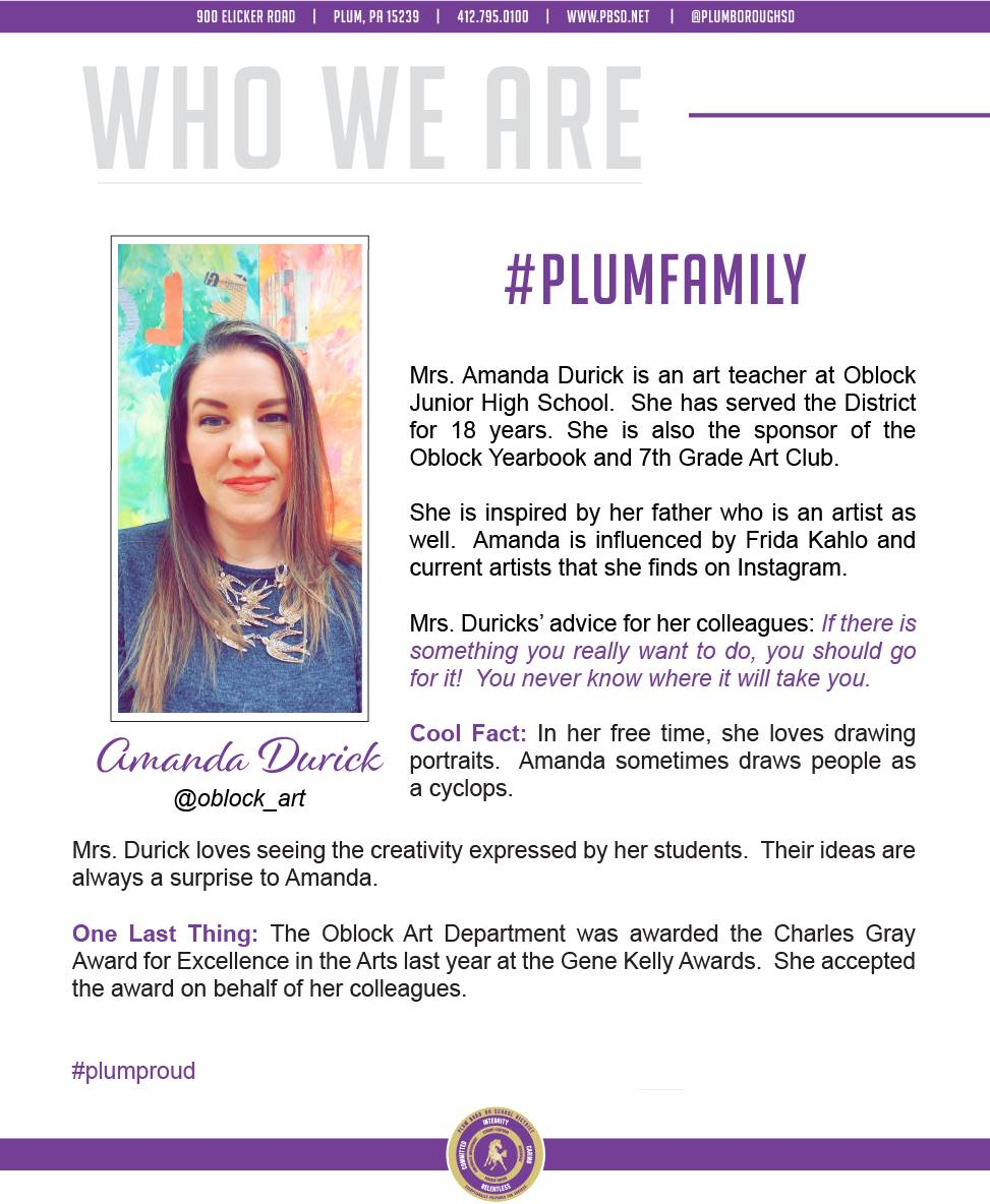 Who We Are Wednesday features Amanda Durick.