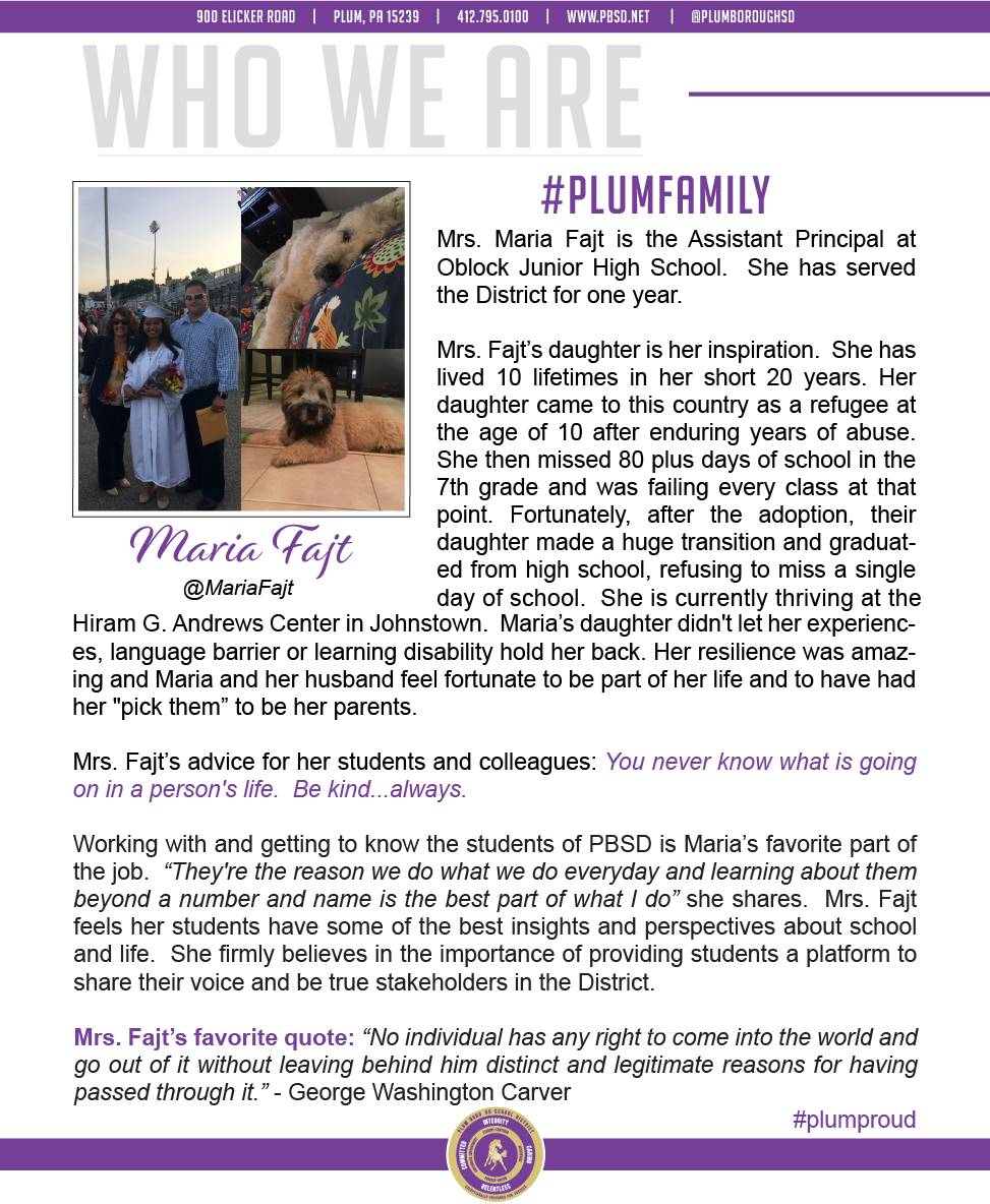 Who We Are Wednesday features Maria Fajt.