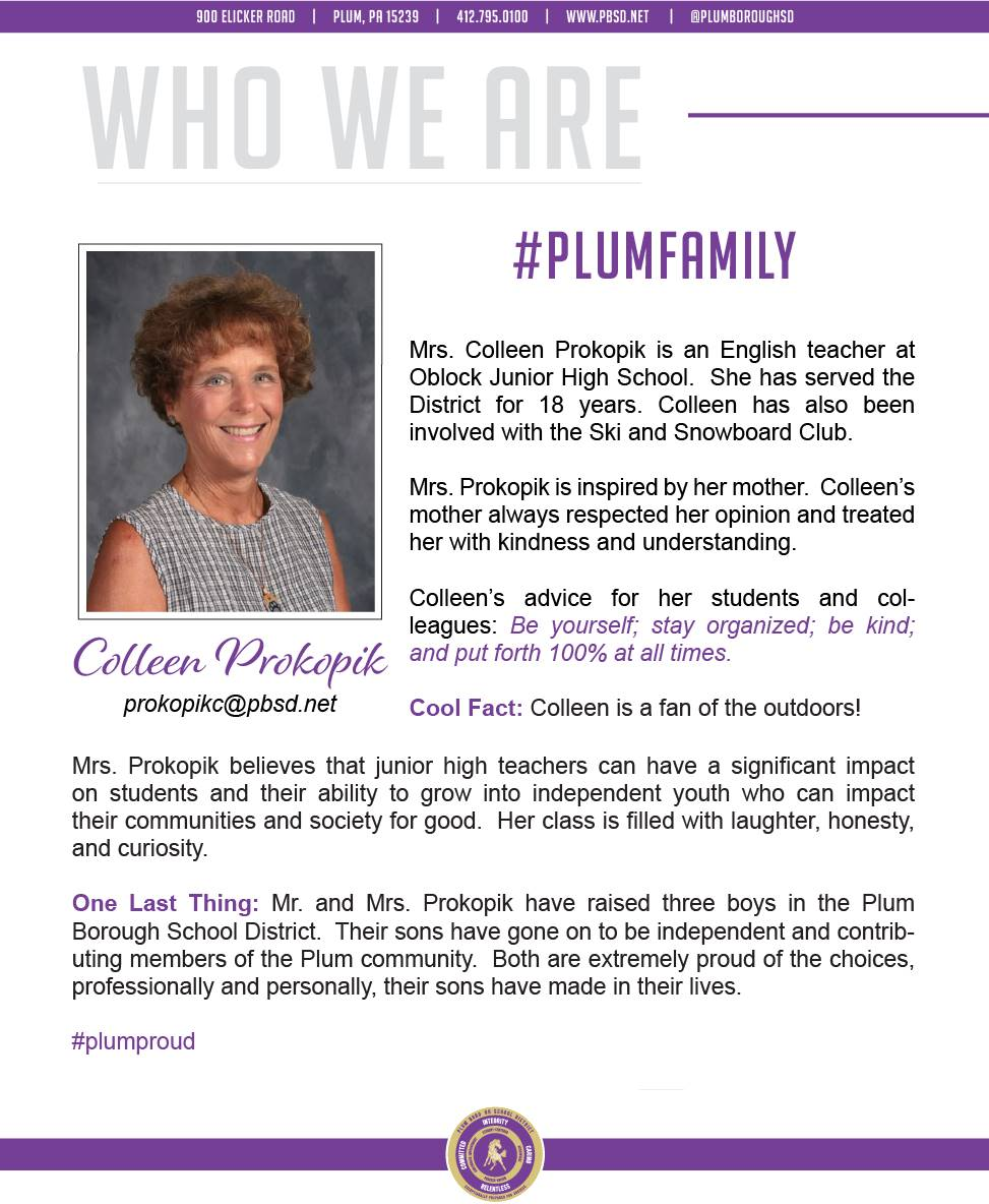 Who We Are Wednesday features Colleen Prokopik.