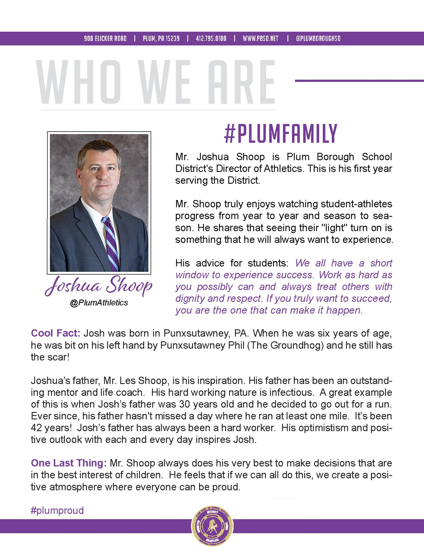 Who We Are Wednesday features Joshua Shoop.