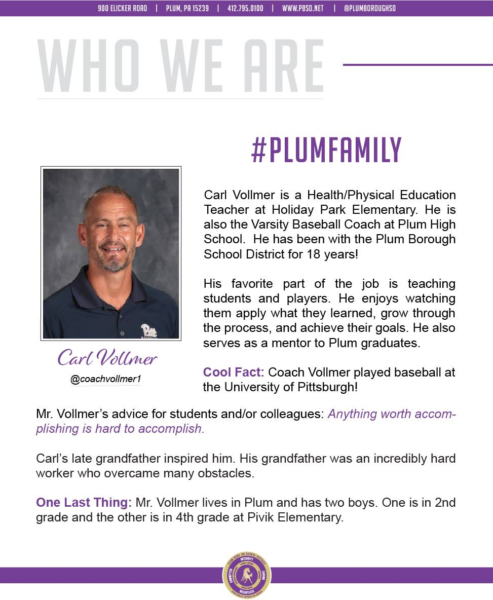 Who We Are Wednesday features Carl Vollmer.