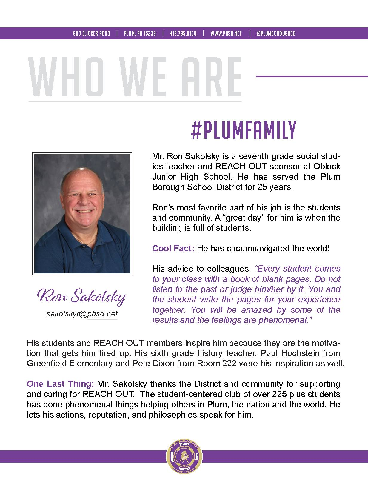 Who We Are Wednesday features Ron Sakolsky.