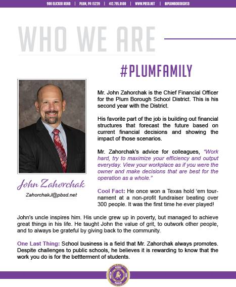 Who We Are Wednesday features John Zahorchak.