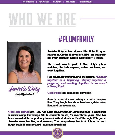 Who We Are Wednesday features Jenielle Doty.