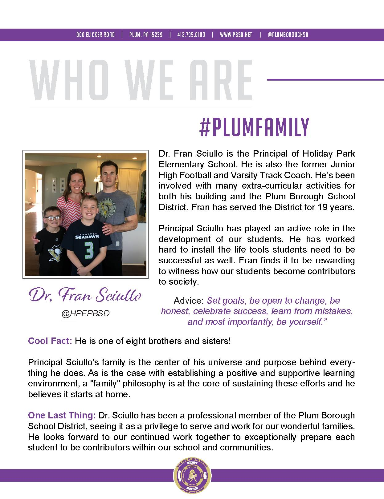 Who We Are Wednesday features Dr. Fran Sciullo.