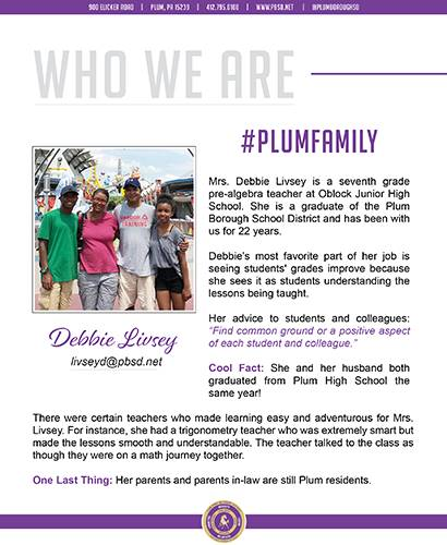 Who We Are Wednesday features Debbie Livsey.