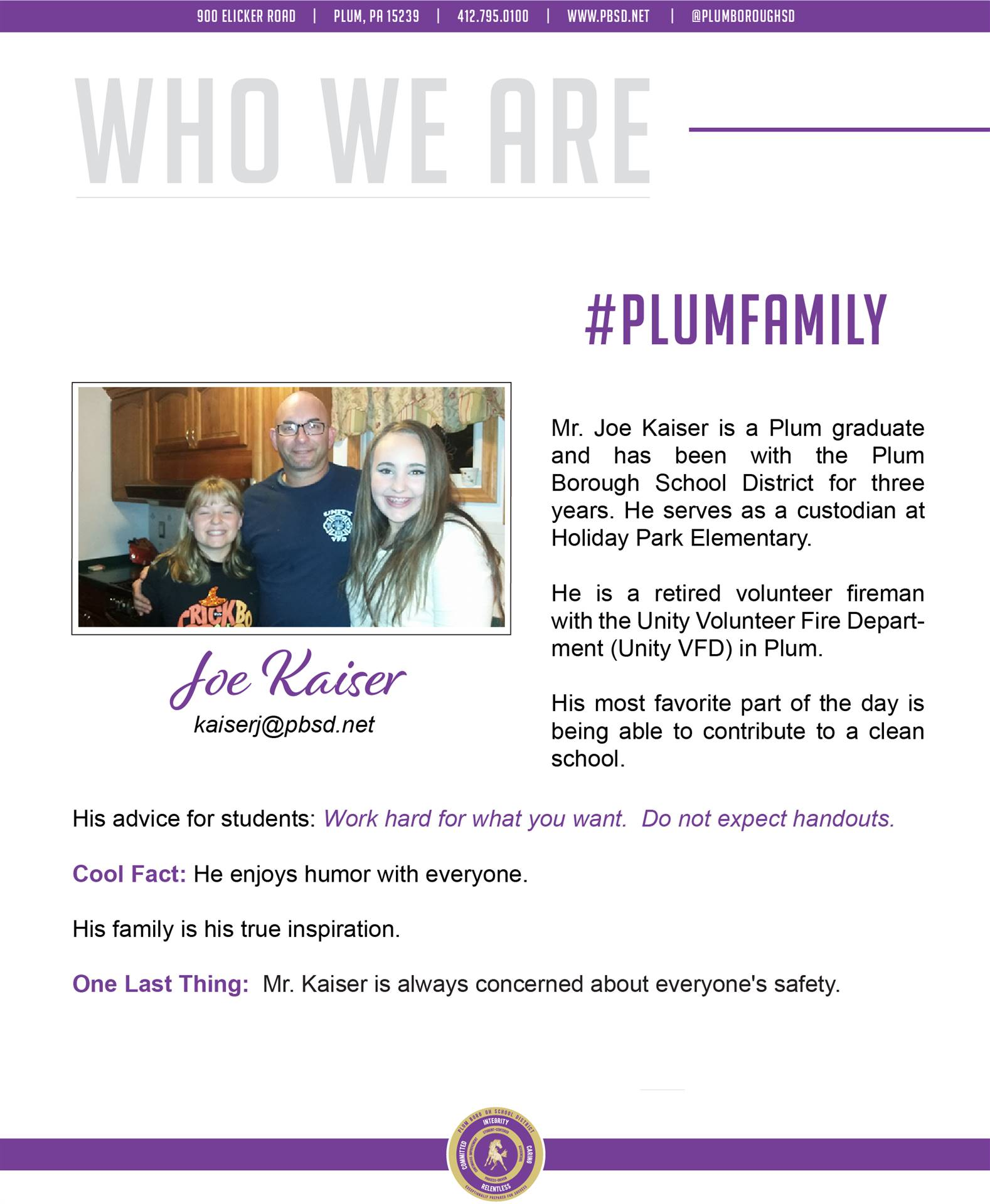 Who We Are Wednesday features Joe Kaiser.