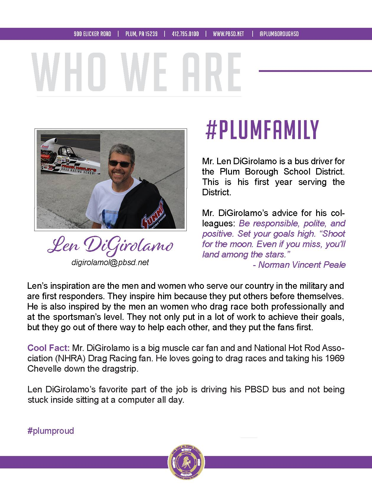 Who We Are Wednesday features Len DiGirolamo.