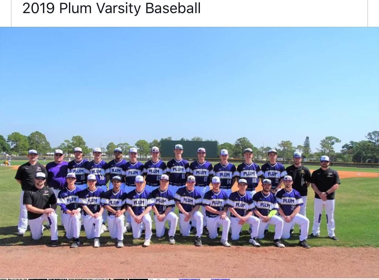 Plum Varsity Baseball team spring training trip