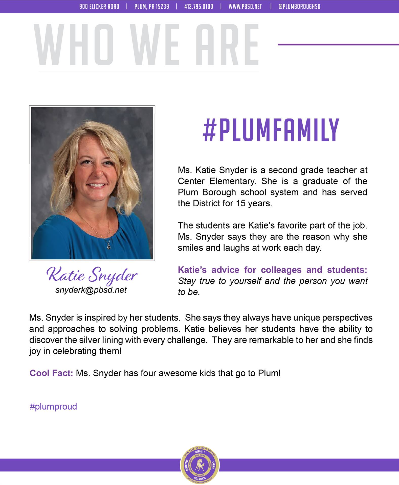 Who We Are Wednesday features Katie Snyder.