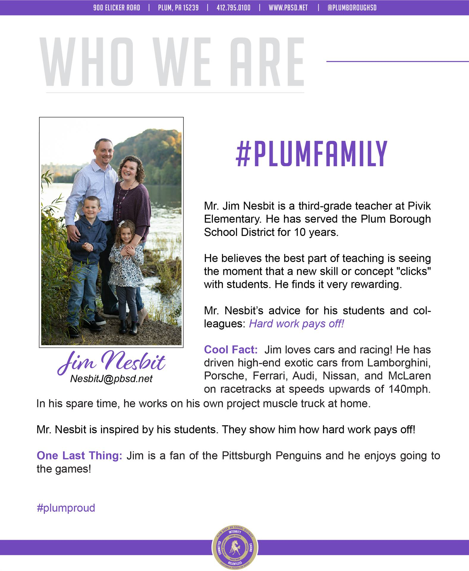 Who We Are Wednesday features Jim Nesbit.