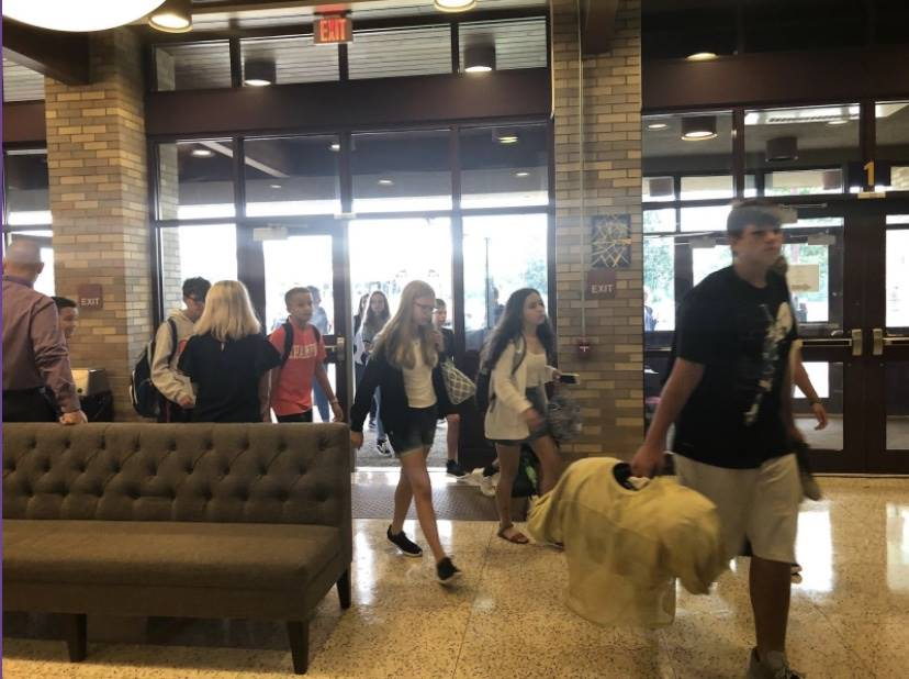 Students first day at Oblock Junior High School