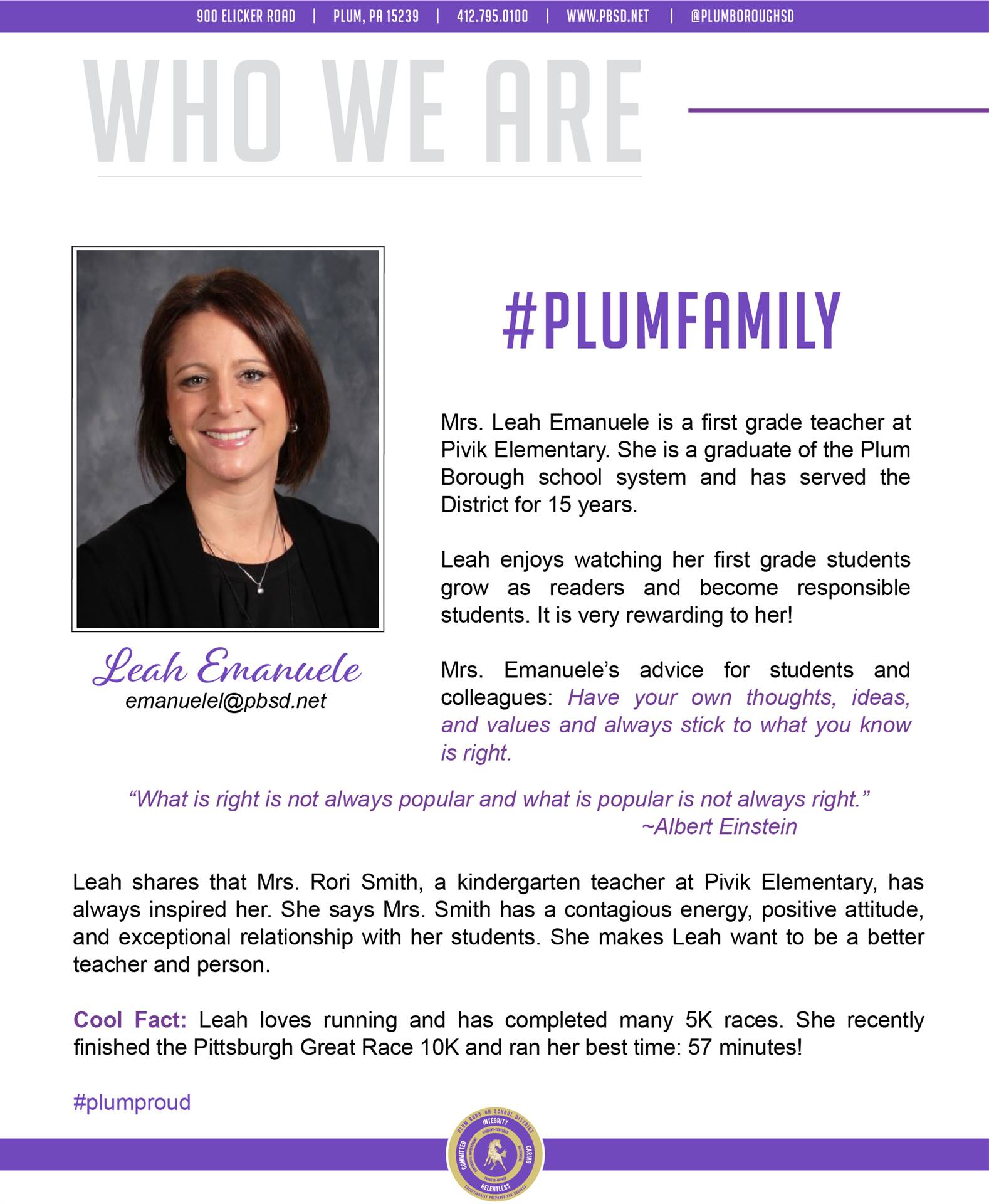 Who We Are Wednesday features Leah Emanuele.