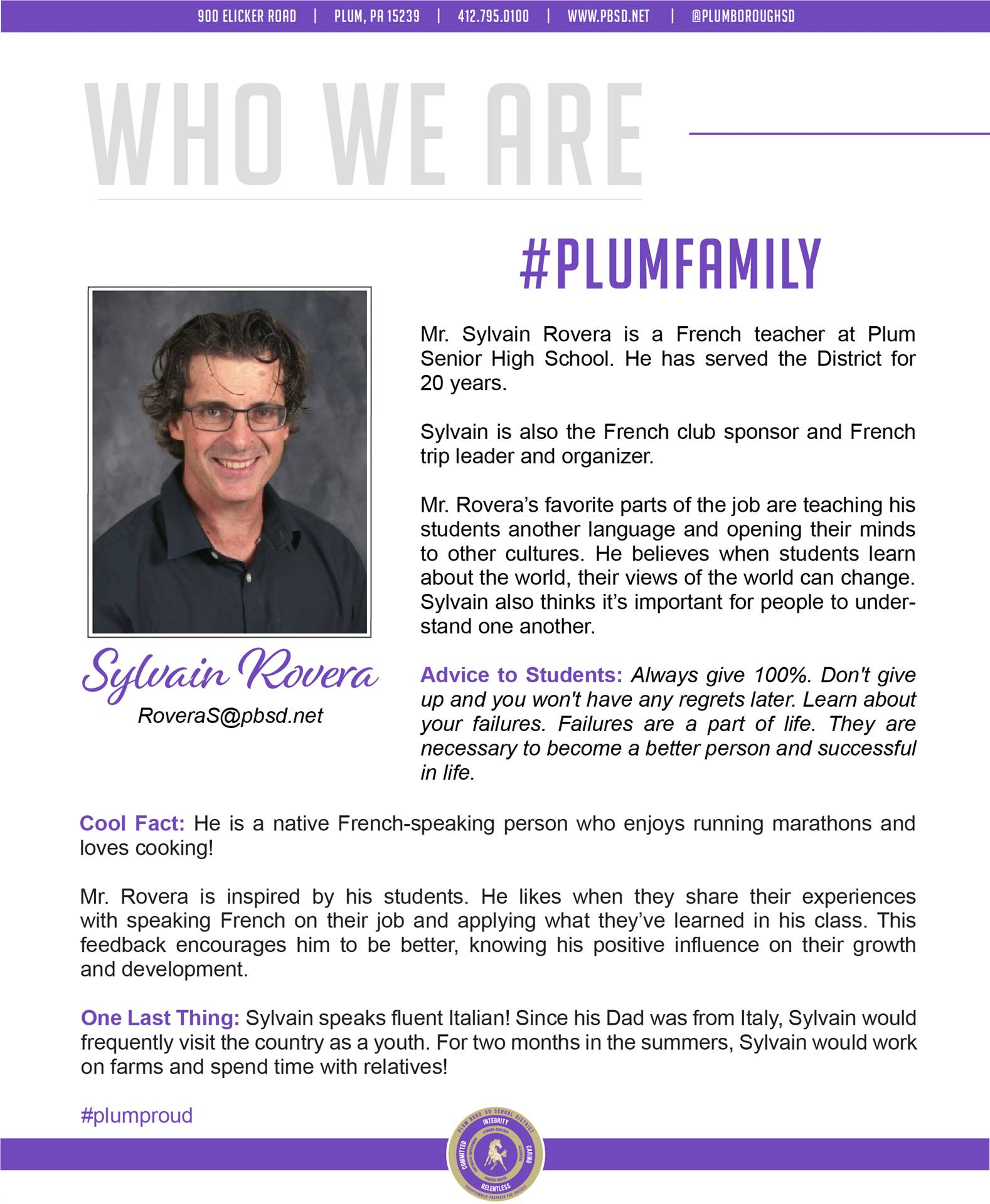 Who We Are Wednesday features Sylvain Rovera.