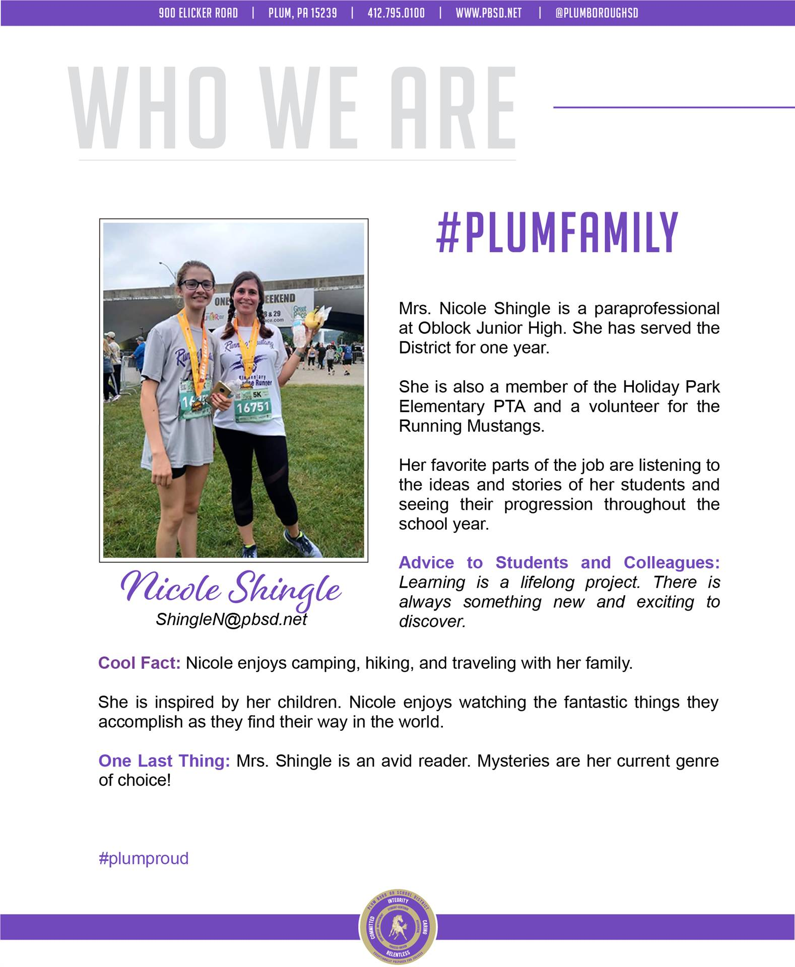 Who We Are Wednesday features Nicole Shingle.