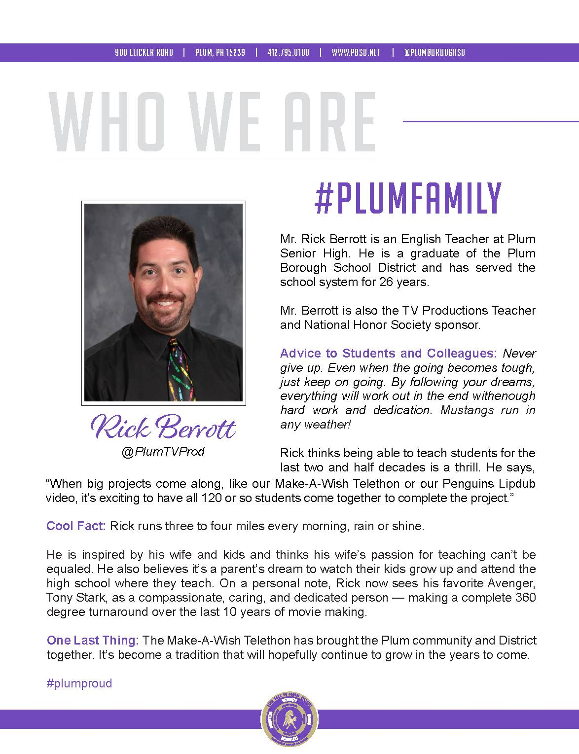 Who We Are Wednesday features Rick Berrott.