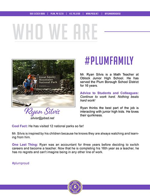 Who We Are Wednesday features Ryan Silvis.