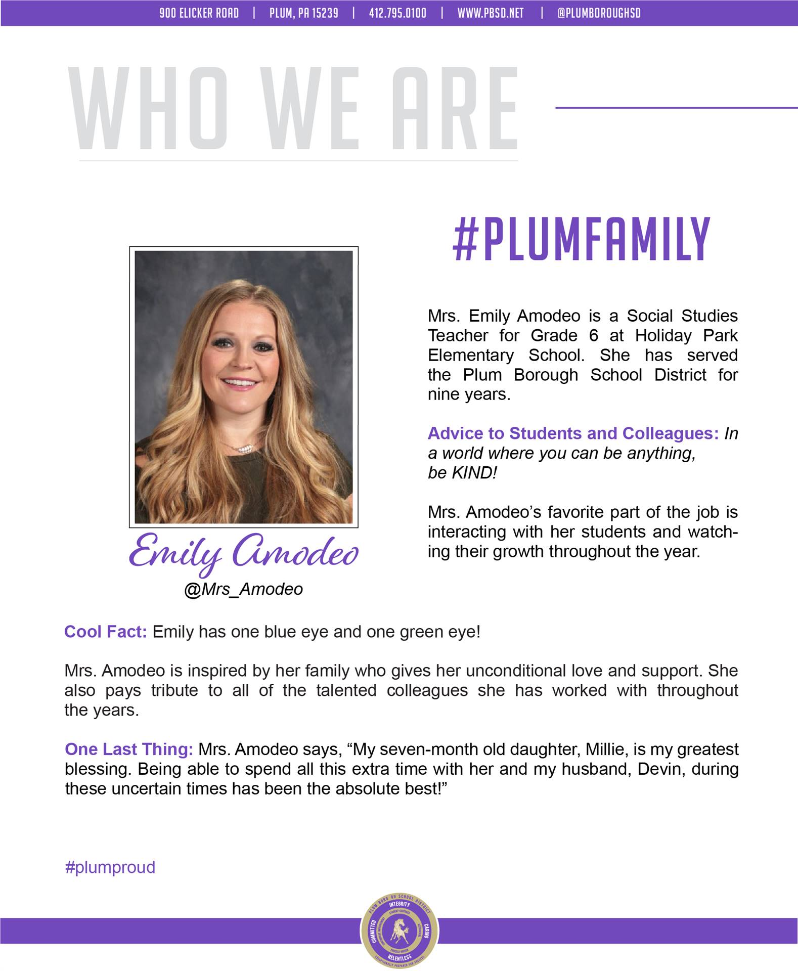 Who We Are Wednesday features Emily Amodeo.
