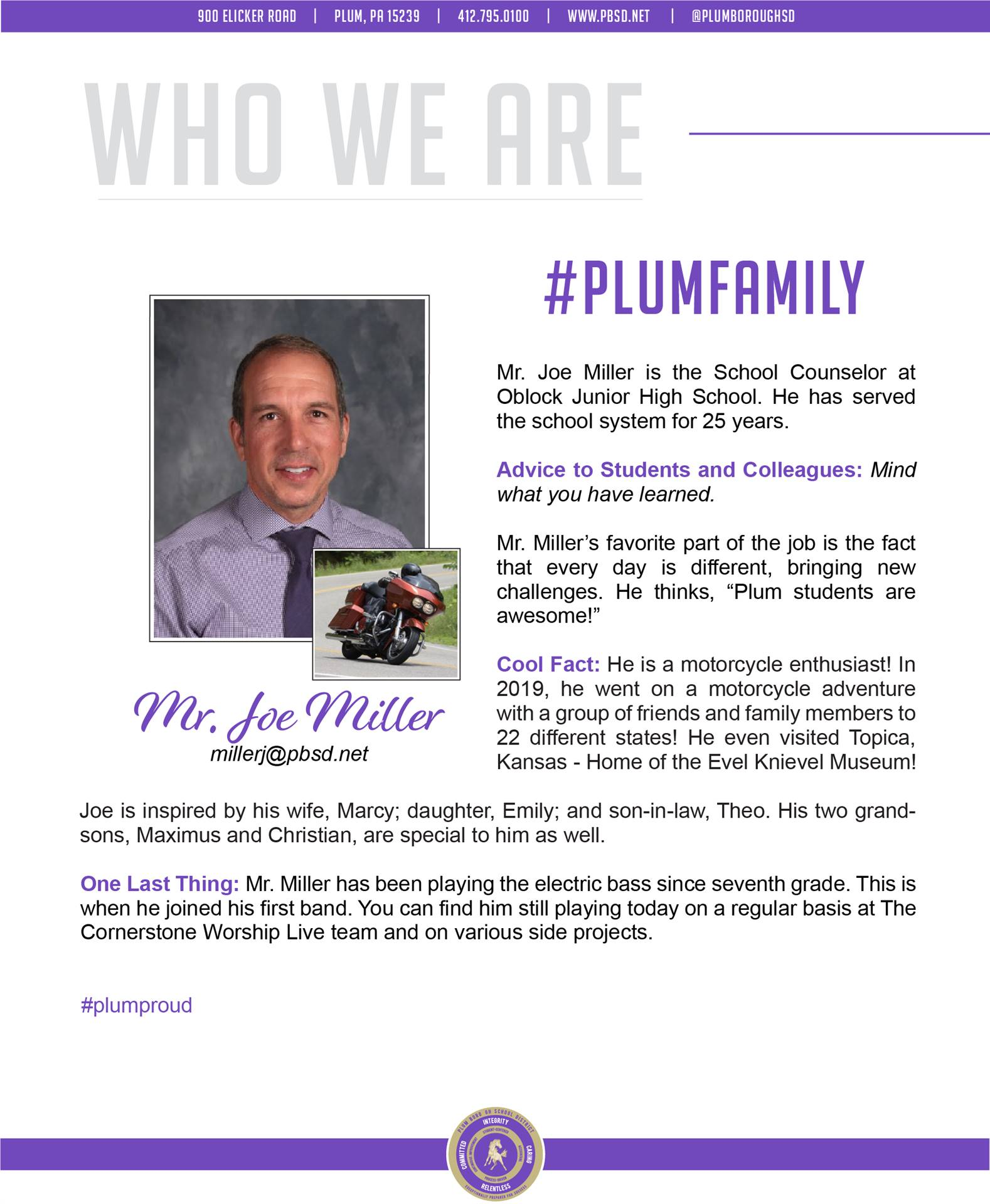 Who We Are Wednesday features Joe Miller.