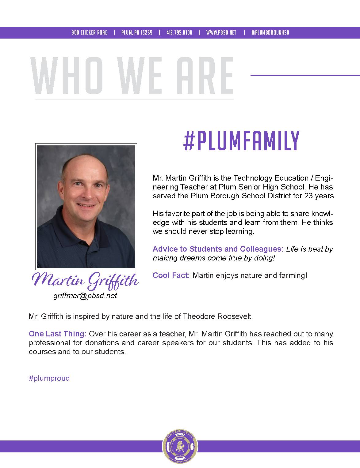 Who We Are Wednesday features Martin Griffith.