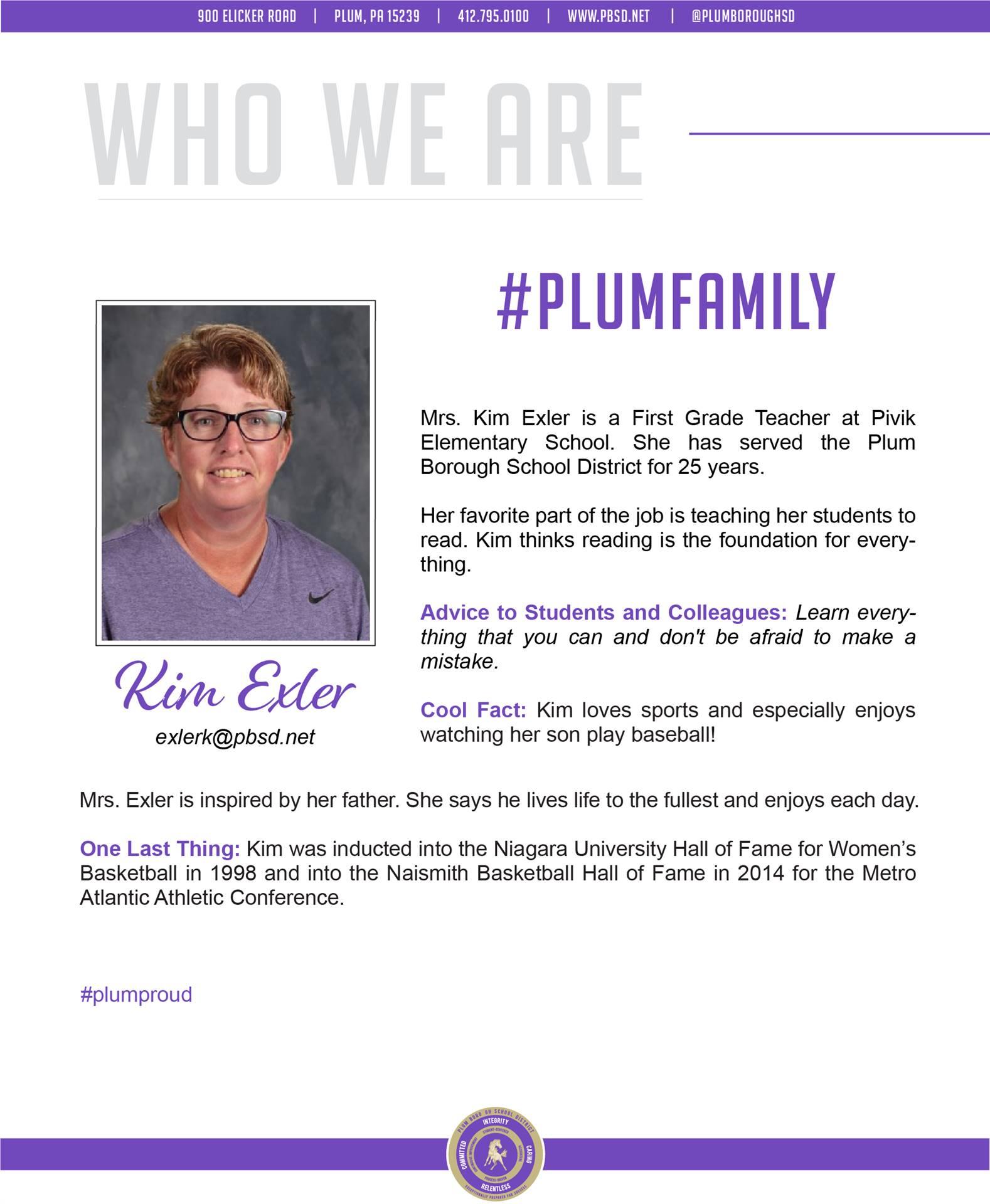 Who We Are Wednesday features Kim Exler.
